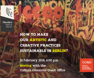 How to make our artistic and creative practices sustainable in Berlin?